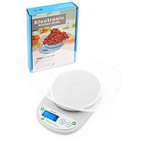 Весы кухонные электронные, весы для кухни QZ-161A, 5кг (1г), чаша