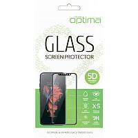 Защитное стекло Optima 5D for Xiaomi Redmi 9а Black, фото 1