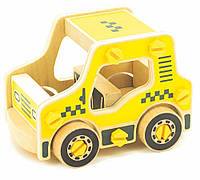 Игрушки из дерева Мир деревянных игрушек Конструктор из дерева Такси (Д427)