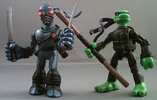 Набор мини-фигурок Донателло и Фут Ниндзя - Donatello and Foot Tech Ninja, 4Kids, 7 см, Playmates (143185), фото 3