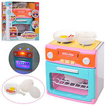 18067-1 Бытовая техника плита, духовка, посуда, звук, свет, на батарейке, в коробке, 22-25-12см