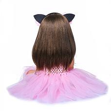 Силіконова колекційна лялька Reborn Doll 55 см Дівчинка Моніка (198), фото 3