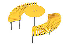 Скамейка Солнце со столиком Kidigo (31609)