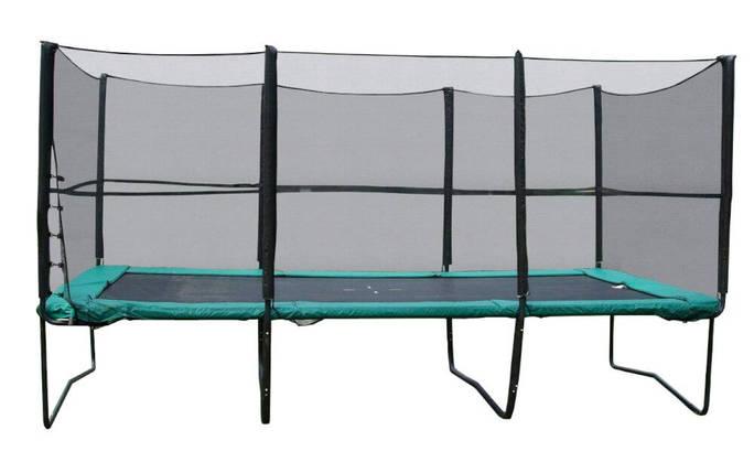 Прямоугольный батут KIDIGO 457х305 см. с защитной сеткой + лестница (61026), фото 2