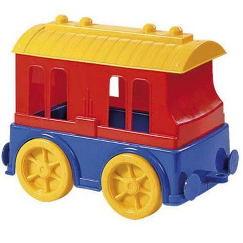 Пластиковий вагончик Юніка Різнобарвний (TOY-13844), фото 2