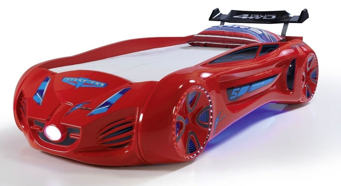 Ліжко машинка Tesla Star червона Туреччина