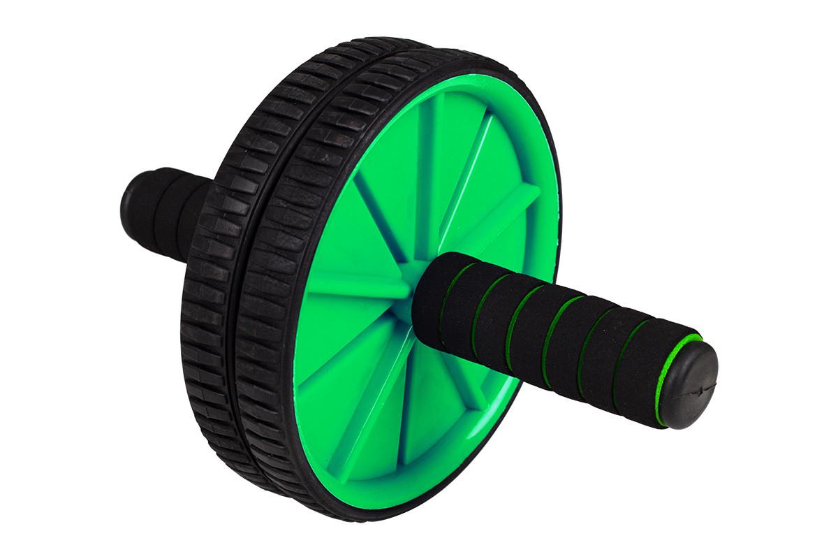 Тренажер ролик для пресса Profi Черно-зеленый (RI0349)