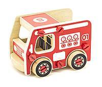 Игрушки из дерева Мир деревянных игрушек Деревянный конструктор пожарная машина (Д430)