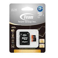 Флэшкарты microSDXC 128GB Team Class 10 UHS-1 + SD-adapter (TUSDX128GUHS03)