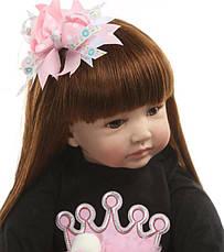 Силиконовая коллекционная кукла Reborn Doll девочка Карина 60 см (172), фото 2