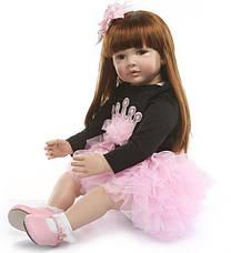Силиконовая коллекционная кукла Reborn Doll девочка Карина 60 см (172), фото 3