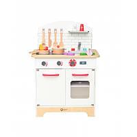 Детский игровой набор Classic world деревянная кухня с продуктами и посудой