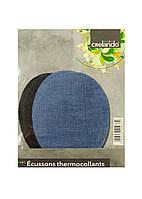 Тканинна нашивка на одяг (4шт) Crelando 13х9,5см Чорний, Блакитний