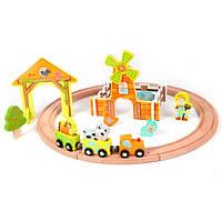 Игровой набор Classic world деревянная железная дорога ферма, фото 1