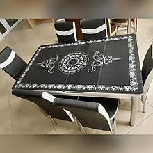 6-039 Стіл розкладний зі скла і 6 стільців