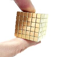 Магнитный конструктор Неокуб золотой кубики