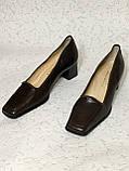 Кожаные стильные деловые женские Туфли на низком каблуке 38 размер, фото 2