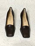 Кожаные стильные деловые женские Туфли на низком каблуке 38 размер, фото 3