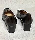 Кожаные стильные деловые женские Туфли на низком каблуке 38 размер, фото 6