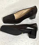 Кожаные стильные деловые женские Туфли на низком каблуке 38 размер, фото 5