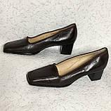 Кожаные стильные деловые женские Туфли на низком каблуке 38 размер, фото 7
