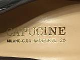 Кожаные стильные деловые женские Туфли на низком каблуке 38 размер, фото 8
