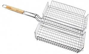 Решетка для барбекю со стенками, металлическая 43х36х5 см