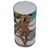 Декоративный чехол для бойлера WILLER EV50DR Optima (Девушка на пляже / 1055х560мм / 21)