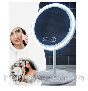 Круглое зеркало с подсветкой и вентилятором Beauty Breeze Mirror (34272)