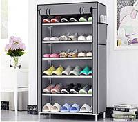 Тканевый Шкаф Складной Шкаф На 5 Полок Шкаф Для Обуви Органайзер Для Хранение Вещей