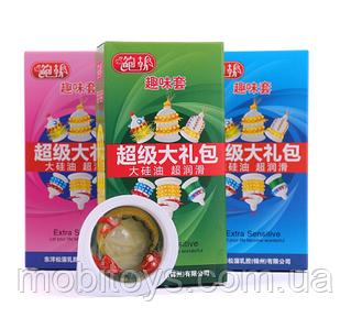 Екстрачутливи с усиками и шипами презервативы Extra Sensitive (упаковка 6шт, зеленый) 6934439715867