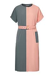 Faberlic женское Двухцветное платье с ассиметричными элементами мультицвет размер 54 62 56 58 60 Минимализм