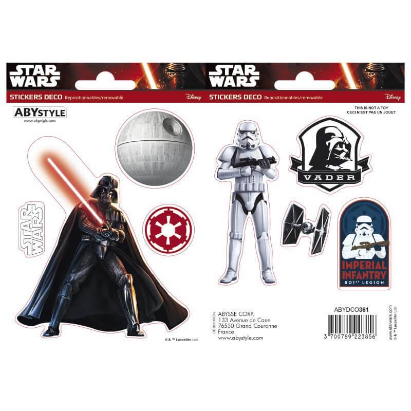 Наклейки Star Wars 16х11 см. 2 листа 112064