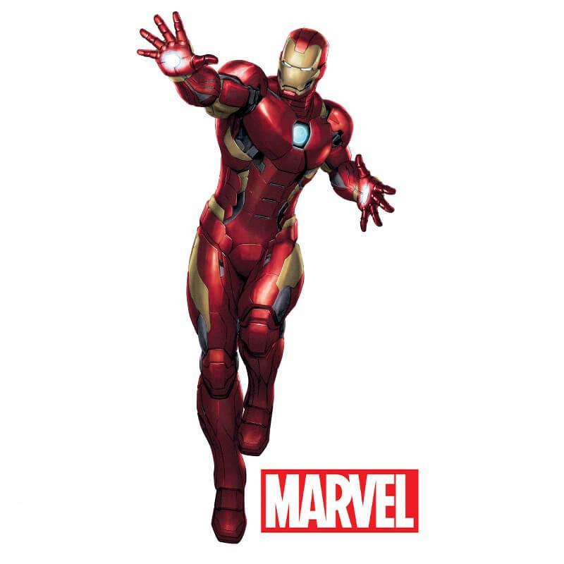 Наклейки Marvel Железный человек блистер 112089