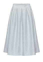 """Отзывы (6 шт) о Faberlic Объемная удлиненная юбка из жаккарда """"Флер-де-Лис"""" цвет серо-голубой размер 40 42 44"""