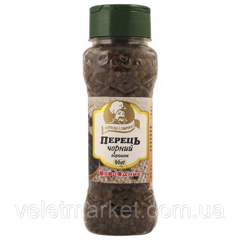 Перець чорний Огородник горошок 90 г (4820079242981)