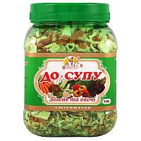 Суміш овочів Огородник зелень і овочі до супу 160 г (4820079241205)