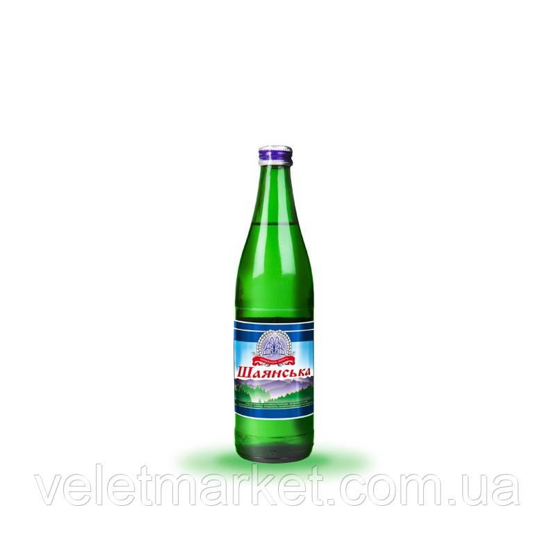 Вода мінеральна Шаянська Шаянські мінеральні води газована в скляній пляшці 0.5 л (4820026950471)