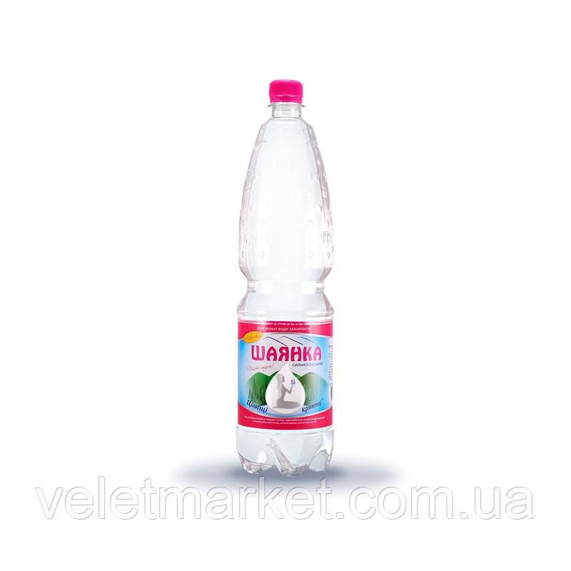 Вода мінеральна Шаянка Шаянські мінеральні води газована 1.5 л (4820026950631)