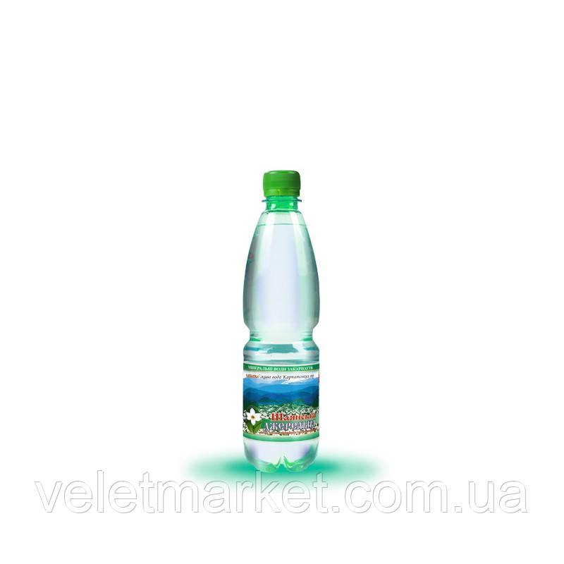 Вода питна Шаянська Джерельна Шаянські мінеральні води газована 0.5 л (4820026950075)