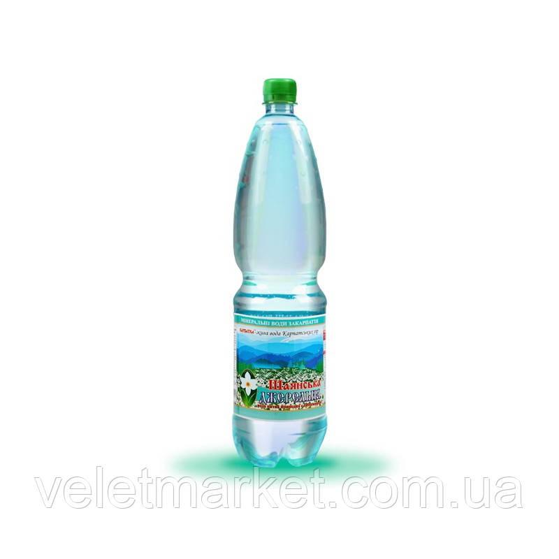 Вода питна Шаянська Джерельна Шаянські мінеральні води слабогазована 1.5 л (4820026950532)