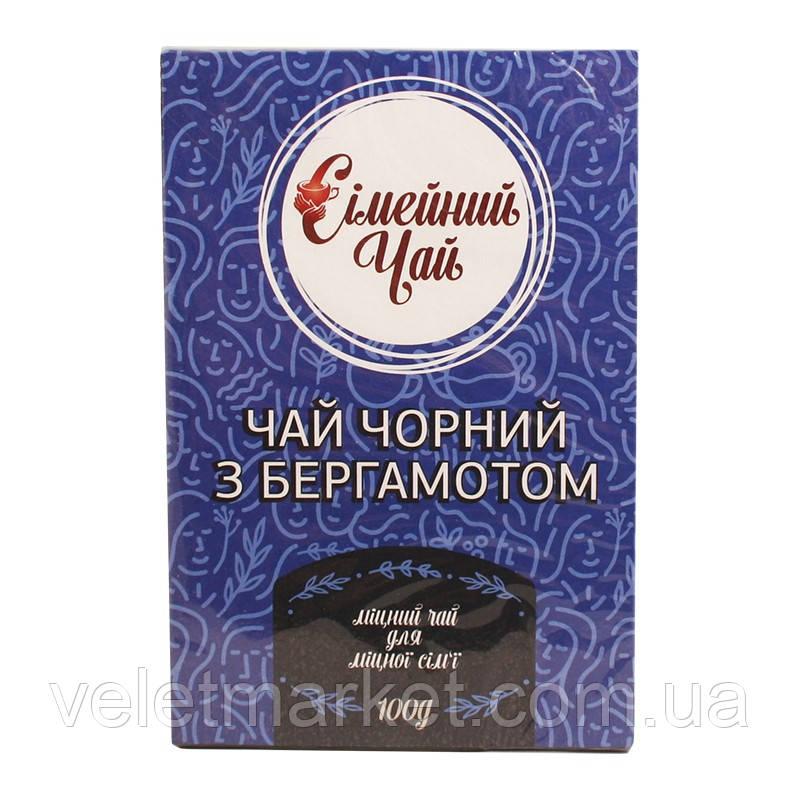 Сімейний чорний чай з ароматом бергамоту 100 г (4820201340226)