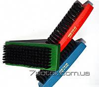 Щетка  для  обуви и одежды разноцветная прямоугольная короткая, фото 1