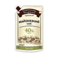 """Майонезний соус Національні білоруські традиції """"Легкий"""" 40% 560гр дой-пак (4820015714862)"""