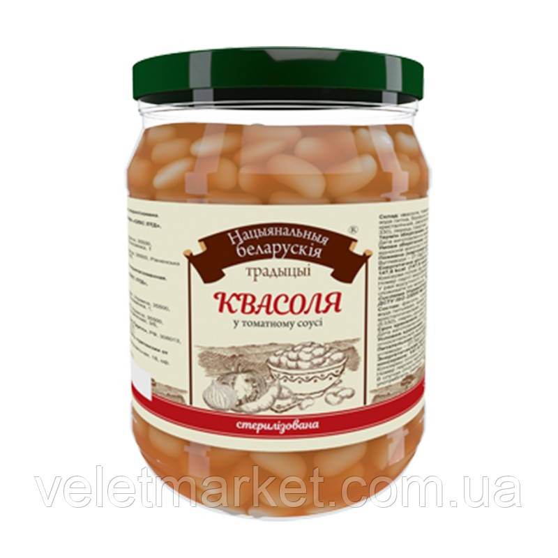 Квасоля в томатному соусі Національні білоруські традиції 480г ск/б (4820015715166)