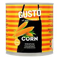 Кукурудза цукрова консервована Густо 420г ж/б (4820015717269)