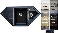 Мойка кухонная гранитная Platinum PANDORA 9950 W матовая (19 различных вариантов цвета)