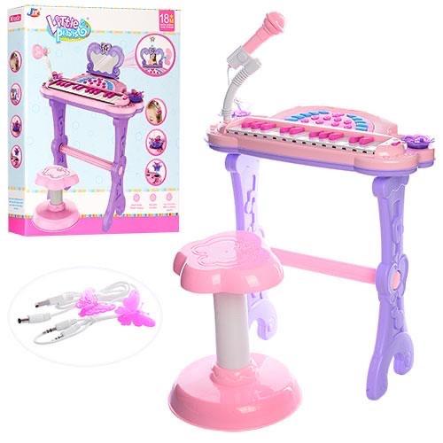 Детский синтезатор - пианино со стульчиком  72-01