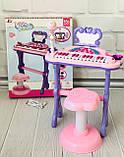 Детский синтезатор - пианино со стульчиком  72-01, фото 2