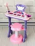 Детский синтезатор - пианино со стульчиком  72-01, фото 3